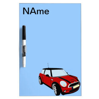 Mini Cooper sports car Dry Erase Board