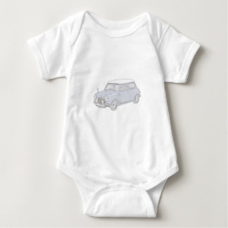 Mini Cooper Vintage-colored Baby Bodysuit