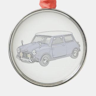 Mini Cooper Vintage-colored Christmas Ornament