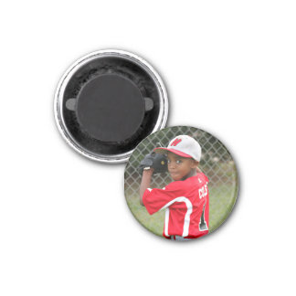 Mini custom photo magnet - sports team support!