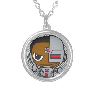 Mini Cyborg Silver Plated Necklace