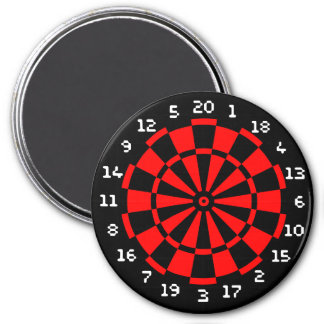 Mini Dartboard Magnet