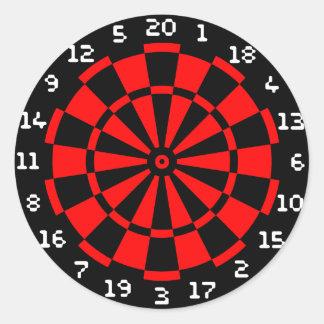 Mini DartBoard Round Sticker