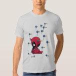 Mini Deadpool Suction Cup Darts Tshirt