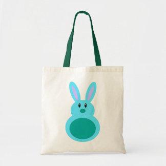 Mini Easter Bunny Aqua Candy Totebag Tote Bag