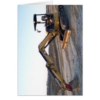 Mini Excavator Greeting Card