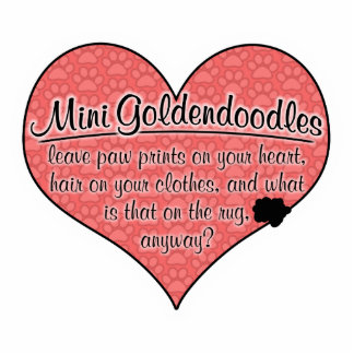 Mini Goldendoodle Paw Prints Dog Humor Photo Cut Out