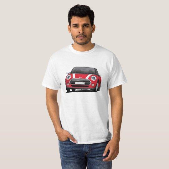 Mini Hatch Cooper (F56) red - white T-Shirt