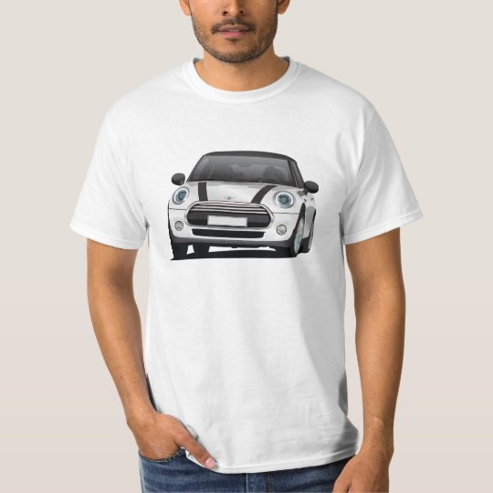 Mini Hatch Cooper (F56) silver - black T-Shirt