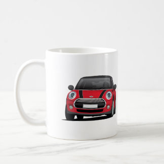 Mini Hatch Cooper (F56) two image mug, red - black Coffee Mug