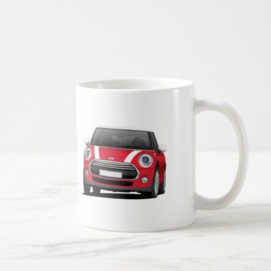Mini Hatch Cooper (F56) two image mug, white