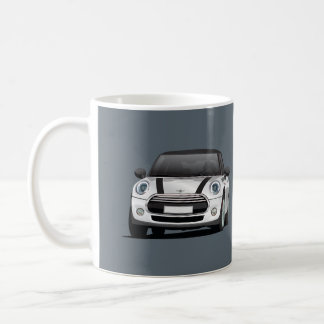 Mini Hatch Cooper S, 2 image mug, silver - black Coffee Mug