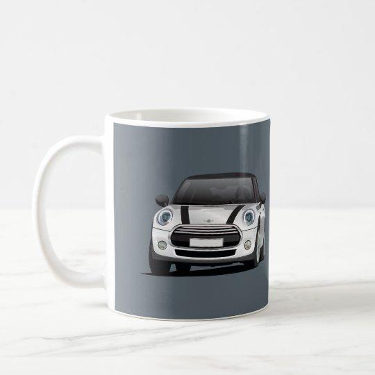 Mini Hatch Cooper S, 2 image mug, silver