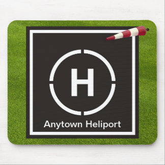 Mini helicopter landing pad - Anytown Heliport Mouse Mat