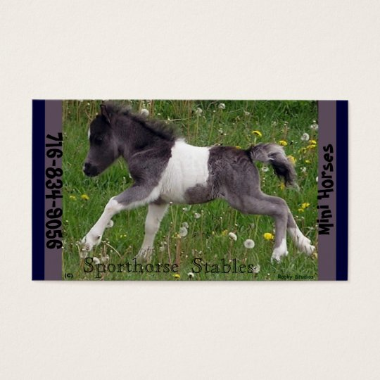 Mini Horse Business Card