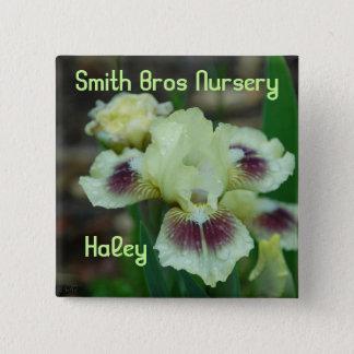 Mini Iris Button-Badge 15 Cm Square Badge