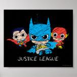 Mini Justice League Sketch Poster