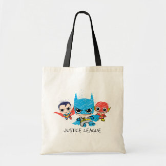 Mini Justice League Sketch Tote Bag