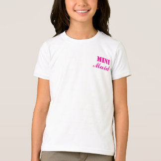 Mini Maid Girls Tshirt Pink/White
