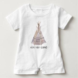 Mini Man Cave Kids Baby Romper Baby Bodysuit