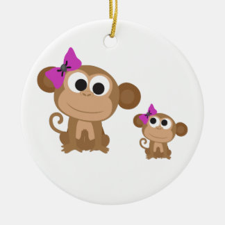 Mini me monkey christmas ornament