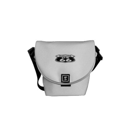 Mini Messenger Bag Inside Print - Route 66