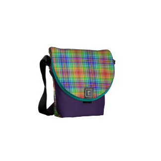 Mini Messenger Bag Rainbow Tartan