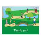 Mini Miniature Golf Birthday Thank You Postcard