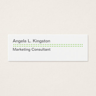 Mini modern micro dot apple green gray custom mini business card