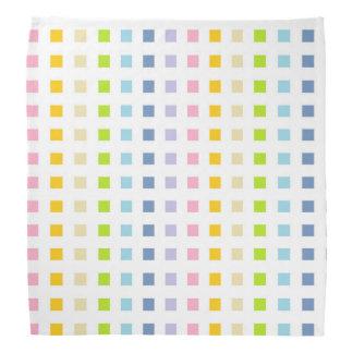 Mini Pastel Rainbow Squares Bandana