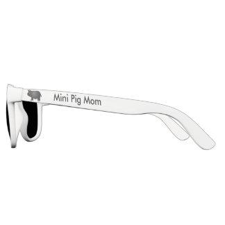 Mini Pig Mom, Black Mini Pig Polarized Sunglasses