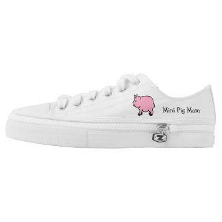 Mini Pig Mom Low Tops Printed Shoes