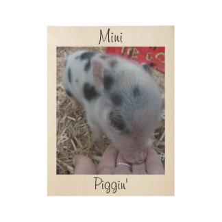 Mini Piggin' Wood Wall Poster - Chanterelle