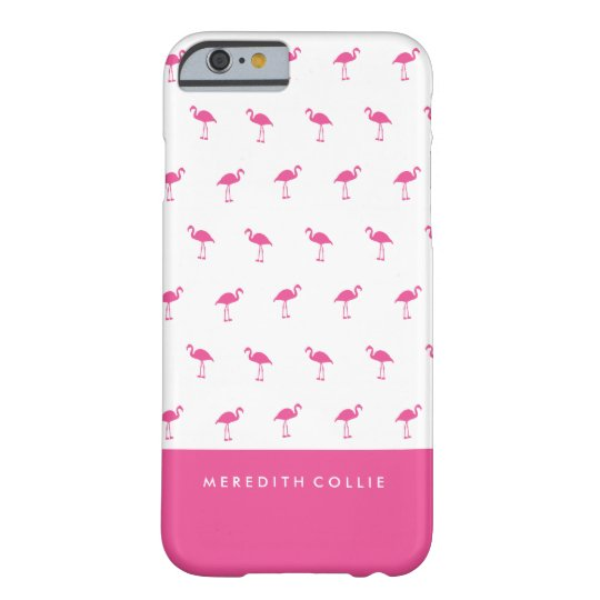 Mini Pink Flamingo Personalised Barely There iPhone 6 Case