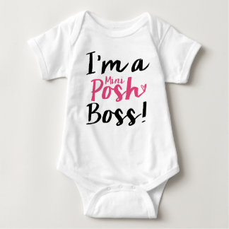 Mini Posh Boss Baby Bodysuit