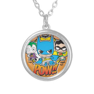 Mini Pow Silver Plated Necklace