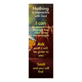Mini prayer bookmark pack of skinny business cards