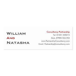 Mini Profile Card - Consultancy partnership Business Card