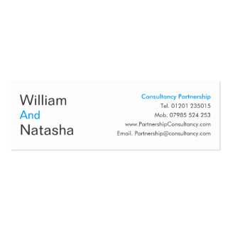 Mini Profile Card - Consultancy partnership Business Card Templates