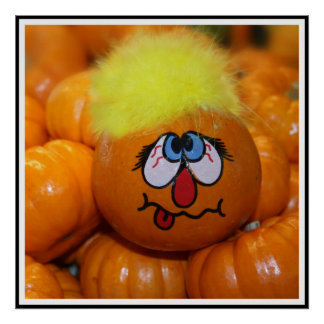Mini Pumpkin Face Poster