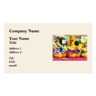 Mini Pumpkins and Gourds at Farmer s Market Business Card Templates
