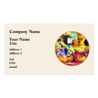 Mini Pumpkins and Gourds at Farmer's Market Business Cards