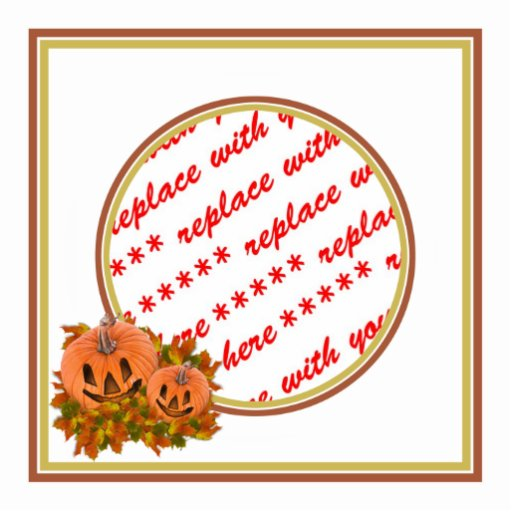 Mini Pumpkins with Fall Leaves Photo Frame Photo Cut Outs