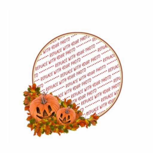 Mini Pumpkins with Fall Leaves Photo Frame Acrylic Cut Out