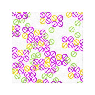 Mini Purple Orange Circle Symbol Pattern Canvas Canvas Print