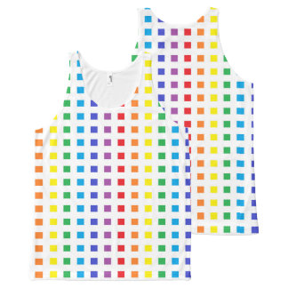Mini Rainbow Squares All-Over Print Tank Top