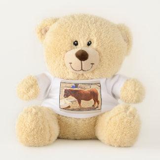 Mini Red Horse Teddy Bear