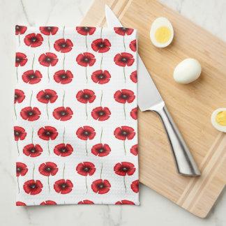 Mini Red Poppies Kitchen Towels