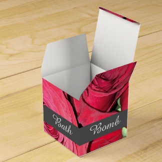 Mini Red Rose Wedding Favour Boxes