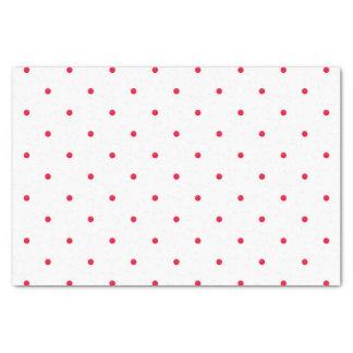 Mini Red Watercolor Polka Dots Tissue Paper
